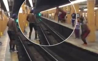 Ένα οδυνηρό άλμα από την αποβάθρα του τρένου