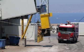 Υπό έλεγχο η πυρκαγιά στο κέντρο ανακύκλωσης στο Ηράκλειο