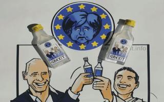Βαρουφάκης και Τσίπρας τα πίνουν στην υγειά της Grexit Vodka