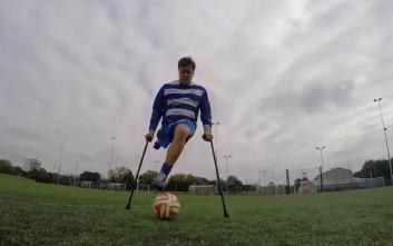 Ο ποδοσφαιριστής με το ένα πόδι