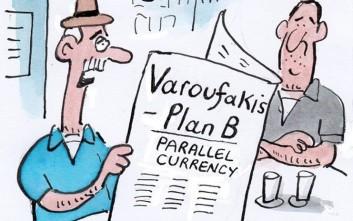 Το σκίτσο του Guardian για το Plan B Βαρουφάκη