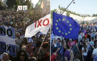Σε εξέλιξη οι δύο συγκεντρώσεις στο κέντρο της Αθήνας