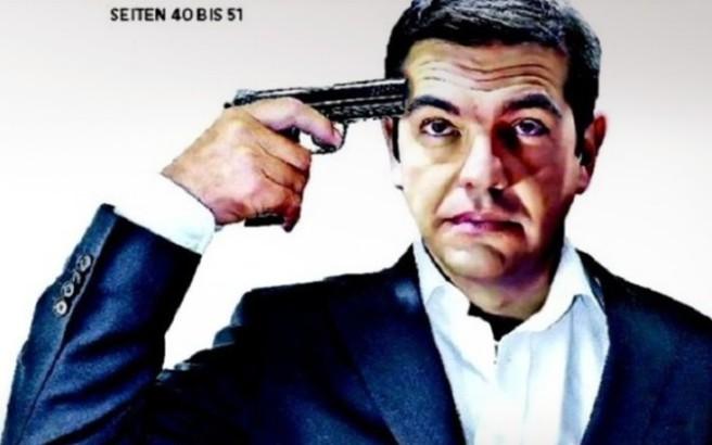 Με πιστόλι στον κρόταφο ο Τσίπρας στο πρωτοσέλιδο της Handelsblatt