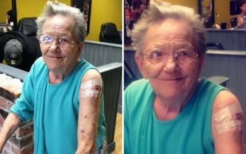 Η γιαγιά το 'σκασε και πήγε για τατουάζ