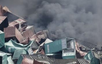 Ξεπέρασαν τους 100 οι νεκροί στις εκρήξεις της Τιαντζίν στην Κίνα