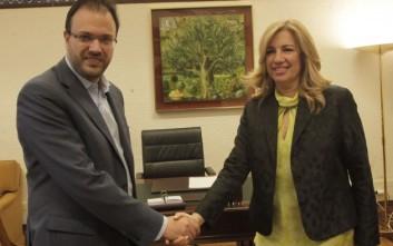 Γεννηματά και Θεοχαρόπουλος ανακοίνωσαν τη «Δημοκρατική Συμπαράταξη»