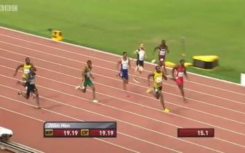 Δείτε την απίθανη κούρσα του Γιουσέιν Μπολτ στα 200 μέτρα