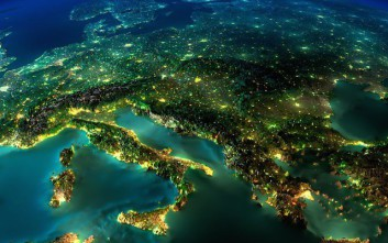 Η Γη τη νύχτα από ψηλά