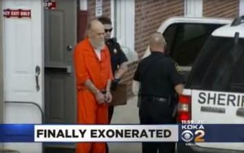 Πέρασε 34 χρόνια στη φυλακή και αθωώθηκε χάρη σε νέες εξετάσεις DNA