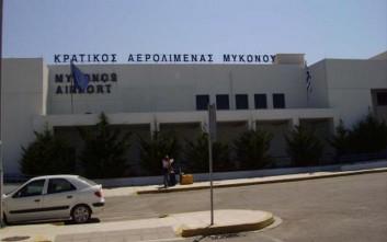 Εικόνα παράλυσης στο αεροδρόμιο Μυκόνου
