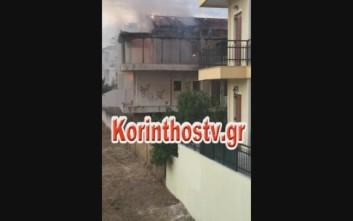 Καίγεται σπίτι στην Κόρινθο