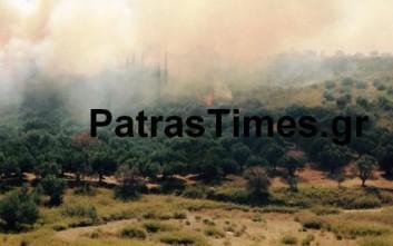 Ανεξέλεγκτη η φωτιά στην Αχαΐα