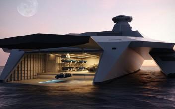 Ένα πολεμικό πλοίο βγαλμένο από το μέλλον