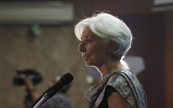 Κριστίν Λαγκάρντ - ΔΝΤ International Monetary Fund (IMF) Managing Director Christine Lagarde speaks at a public lecture at the University of Indonesia in Jakarta