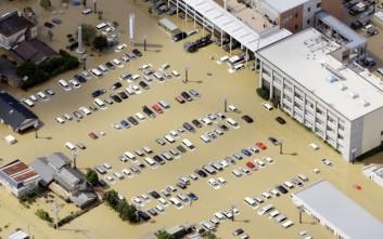 «Βούλιαξε» η Ιαπωνία από τις πλημμύρες