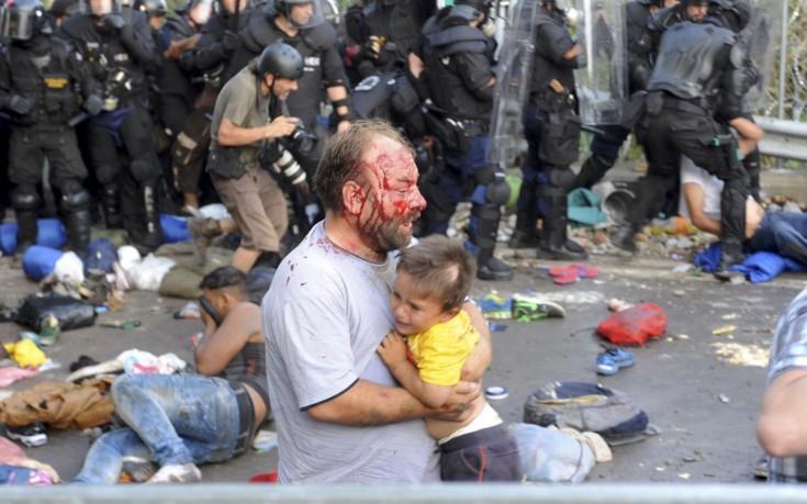 Ουγγαρία Σερβία Σύνορα μετανάστες