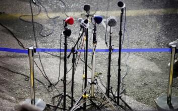 Διαμαρτυρία των δημοσιογράφων στα εγκαίνια της ΔΕΘ
