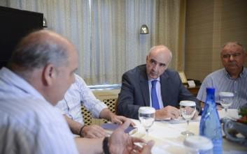 Συνάντηση Μεϊμαράκη με τους μεταλλωρύχους της Χαλκιδικής
