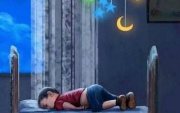 Σπαρακτικά σκίτσα για τον τρίχρονο Αϊλάν που «χάθηκε» στο Αιγαίο