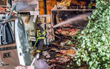Έκρηξη ξεθεμελίωσε σπίτι στο Μέριλαντ