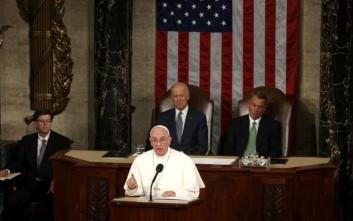 «Γκάζια» του πάπα Φραγκίσκου στο κογκρέσο των ΗΠΑ