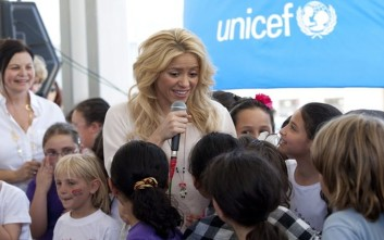 Σακίρα και η UNICEF ενώνουν τις δυνάμεις τους για την ανάπτυξη στην παιδική ηλικία