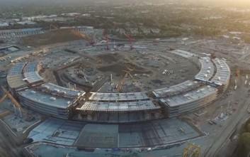 Εναέρια... κατασκοπία στο χτίσιμο της μελλοντικής έδρας της Apple