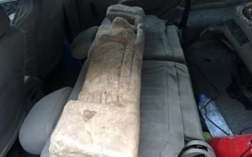Μαρμάρινο άγαλμα βρέθηκε στην κατοχή αρχαιοκάπηλου
