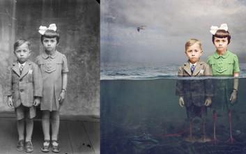 Ασπρόμαυρες φωτογραφίες μεταμορφώνονται σε ονειρικές εικόνες που στοιχειώνουν