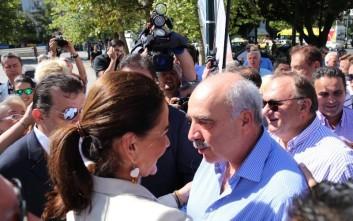 Μεϊμαράκης και Μπακογιάννη στο εκλογικό περίπτερο της ΝΔ
