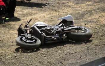 Φορτηγό συγκρούστηκε με μοτοσικλέτα, ένας τραυματίας