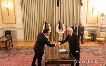 Φωτογραφίες από την ορκωμοσία του Αλέξη Τσίπρα στο Προεδρικό Μέγαρο