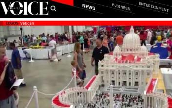 Βατικανό από Lego κατασκεύασε ιερέας για να τιμήσει τον πάπα