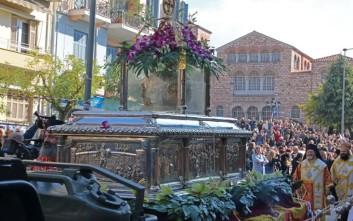 Με τη λιτάνευση της εικόνας του Α. Δημητρίου ξεκίνησαν οι εορτασμοί στην Θεσσαλονίκη