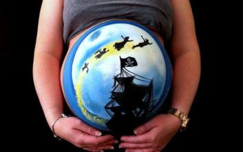 Εγκυμονούσες με εντυπωσιακά body paintings
