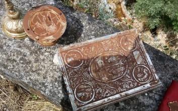 Βρέθηκε η εικόνα της Άγιας Βαρβάρας στην Κεφαλονιά