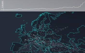 Πώς μετακινούνται οι πρόσφυγες μέσα από μια «ζωντανή» απεικόνιση