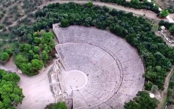 Εντυπωσιακό ταξίδι πάνω από την αρχαία Επίδαυρο