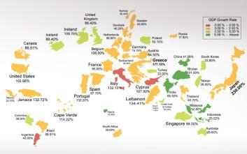 Αυτός είναι ο παγκόσμιος χάρτης του χρέους