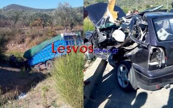Ένας νεκρός σε σύγκρουση φορτηγού με ΙΧ στη Λέσβο