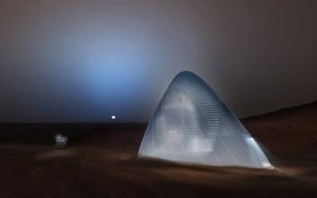Φουτουριστικό «ιγκλού» σπίτι για τους πρώτους ανθρώπους στον Άρη