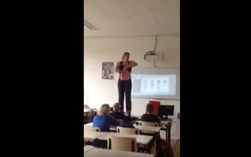 Καθηγήτρια έκανε στριπτίζ για να διδάξει Βιολογία