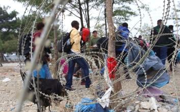 Ένταση στην Ειδομένη με μετανάστες