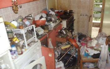 Απίστευτες εικόνες από σπίτι… σκουπιδότοπο