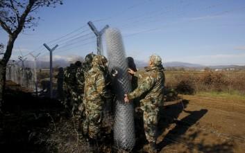 Οι Σκοπιανοί στήνουν μεταλλικό φράχτη στα σύνορα με την Ελλάδα