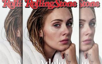 Η εντελώς άβαφη Adele στο εξώφυλλο περιοδικού