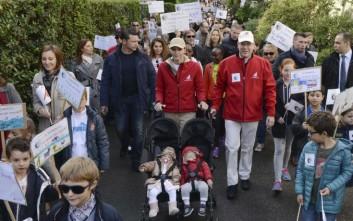 Μία πριγκιπική οικογένεια στην πορεία για το κλίμα
