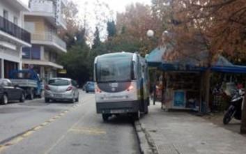 Έχασε τον προσανατολισμό του το λεωφορείο χωρίς οδηγό στα Τρίκαλα