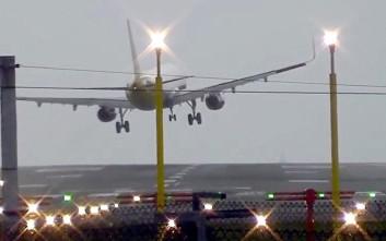 Πώς οι ισχυροί άνεμοι απέτρεψαν την προσγείωση αεροπλάνου