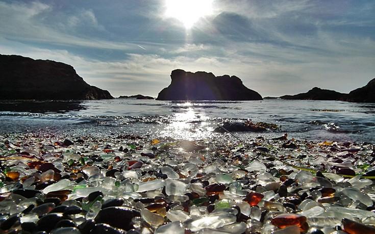 Η γυάλινη παραλία της Καλιφόρνιας